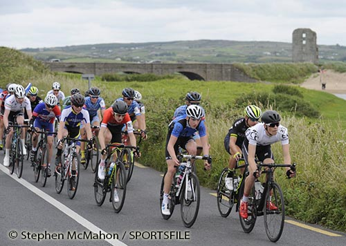 dc68fa23f Robert O Leary of Ireland National Team celebrates as he approaches the finish  line to win Stage 3 of the 2016 Scott Bicycles Junior Tour of Ireland