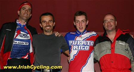 The Puerto Rican team present Race winner Daniel Martin with one of their National  Team jerseys 29bf0d5c1